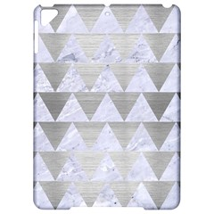 Triangle2 White Marble & Silver Brushed Metal Apple Ipad Pro 9 7   Hardshell Case by trendistuff