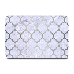 Tile1 White Marble & Silver Brushed Metal (r) Plate Mats