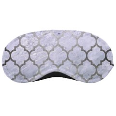 Tile1 White Marble & Silver Brushed Metal (r) Sleeping Masks by trendistuff