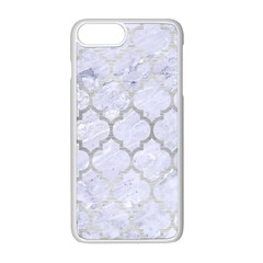 Tile1 White Marble & Silver Brushed Metal (r) Apple Iphone 8 Plus Seamless Case (white) by trendistuff