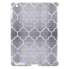 Tile1 White Marble & Silver Brushed Metal Apple Ipad 3/4 Hardshell Case (compatible With Smart Cover) by trendistuff