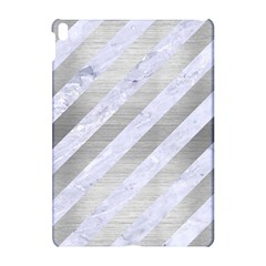 Stripes3 White Marble & Silver Brushed Metal (r) Apple Ipad Pro 10 5   Hardshell Case by trendistuff