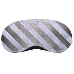 Stripes3 White Marble & Silver Brushed Metal Sleeping Masks by trendistuff