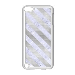 Stripes3 White Marble & Silver Brushed Metal Apple Ipod Touch 5 Case (white) by trendistuff