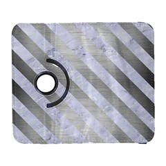 Stripes3 White Marble & Silver Brushed Metal Galaxy S3 (flip/folio) by trendistuff
