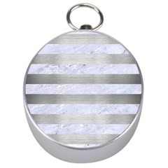 Stripes2white Marble & Silver Brushed Metal Silver Compasses by trendistuff