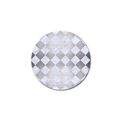 Square2 White Marble & Silver Brushed Metal Golf Ball Marker (10 Pack) by trendistuff