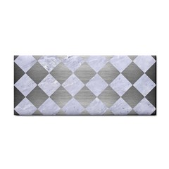 Square2 White Marble & Silver Brushed Metal Cosmetic Storage Cases by trendistuff
