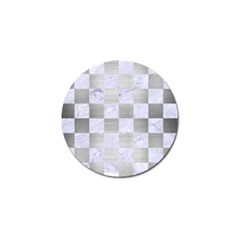 Square1 White Marble & Silver Brushed Metal Golf Ball Marker (10 Pack) by trendistuff