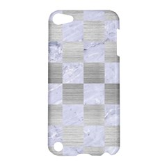 Square1 White Marble & Silver Brushed Metal Apple Ipod Touch 5 Hardshell Case by trendistuff