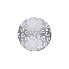 Skin5 White Marble & Silver Brushed Metal (r) Golf Ball Marker (4 Pack) by trendistuff