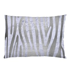 Skin4 White Marble & Silver Brushed Metal (r) Pillow Case by trendistuff