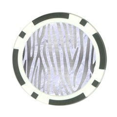 Skin4 White Marble & Silver Brushed Metal Poker Chip Card Guard by trendistuff