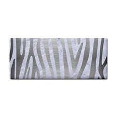 Skin4 White Marble & Silver Brushed Metal Cosmetic Storage Cases by trendistuff