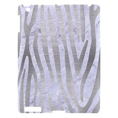 Skin4 White Marble & Silver Brushed Metal Apple Ipad 3/4 Hardshell Case by trendistuff