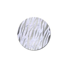 Skin3 White Marble & Silver Brushed Metal (r) Golf Ball Marker by trendistuff
