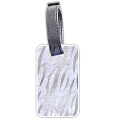 Skin3 White Marble & Silver Brushed Metal (r) Luggage Tags (one Side)  by trendistuff