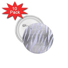 Skin3 White Marble & Silver Brushed Metal 1 75  Buttons (10 Pack)