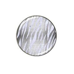 Skin3 White Marble & Silver Brushed Metal Hat Clip Ball Marker (10 Pack) by trendistuff