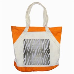 Skin3 White Marble & Silver Brushed Metal Accent Tote Bag by trendistuff