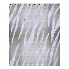 Skin3 White Marble & Silver Brushed Metal Shower Curtain 60  X 72  (medium)  by trendistuff