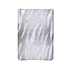 Skin3 White Marble & Silver Brushed Metal Ipad Mini 2 Hardshell Cases by trendistuff