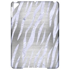 Skin3 White Marble & Silver Brushed Metal Apple Ipad Pro 9 7   Hardshell Case