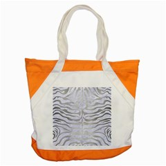 Skin2 White Marble & Silver Brushed Metal (r) Accent Tote Bag by trendistuff