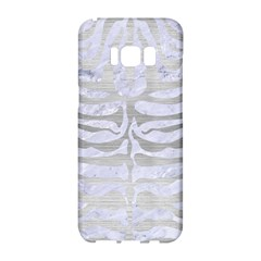 Skin2 White Marble & Silver Brushed Metal (r) Samsung Galaxy S8 Hardshell Case  by trendistuff