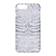 Skin2 White Marble & Silver Brushed Metal (r) Apple Iphone 8 Plus Hardshell Case by trendistuff