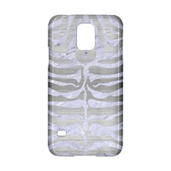 Skin2 White Marble & Silver Brushed Metal Samsung Galaxy S5 Hardshell Case  by trendistuff