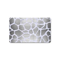 Skin1 White Marble & Silver Brushed Metal (r) Magnet (name Card) by trendistuff