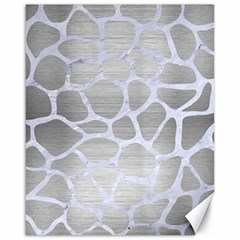 Skin1 White Marble & Silver Brushed Metal (r) Canvas 16  X 20   by trendistuff