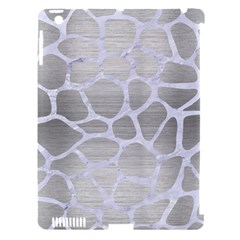 Skin1 White Marble & Silver Brushed Metal (r) Apple Ipad 3/4 Hardshell Case (compatible With Smart Cover) by trendistuff