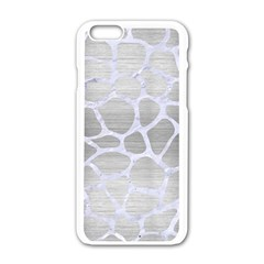 Skin1 White Marble & Silver Brushed Metal (r) Apple Iphone 6/6s White Enamel Case by trendistuff
