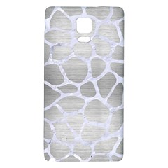 Skin1 White Marble & Silver Brushed Metal (r) Galaxy Note 4 Back Case