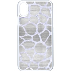 Skin1 White Marble & Silver Brushed Metal (r) Apple Iphone X Seamless Case (white)