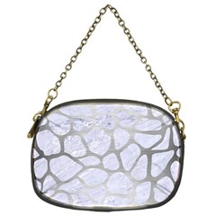 Skin1 White Marble & Silver Brushed Metal Chain Purses (one Side)  by trendistuff