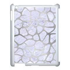 Skin1 White Marble & Silver Brushed Metal Apple Ipad 3/4 Case (white) by trendistuff
