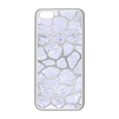 Skin1 White Marble & Silver Brushed Metal Apple Iphone 5c Seamless Case (white) by trendistuff