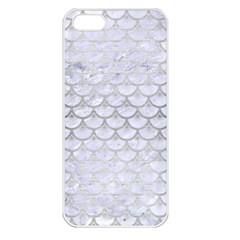 Scales3 White Marble & Silver Brushed Metal (r) Apple Iphone 5 Seamless Case (white) by trendistuff