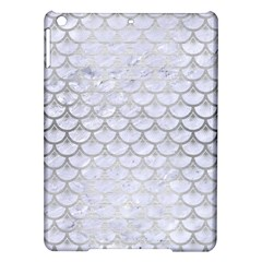 Scales3 White Marble & Silver Brushed Metal (r) Ipad Air Hardshell Cases by trendistuff