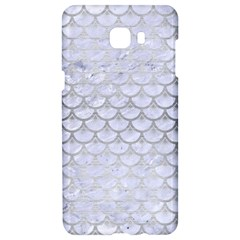 Scales3 White Marble & Silver Brushed Metal (r) Samsung C9 Pro Hardshell Case  by trendistuff