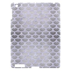 Scales3 White Marble & Silver Brushed Metal Apple Ipad 3/4 Hardshell Case by trendistuff