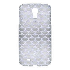 Scales3 White Marble & Silver Brushed Metal Samsung Galaxy S4 I9500/i9505 Hardshell Case by trendistuff