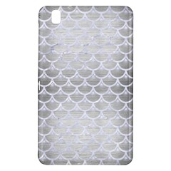 Scales3 White Marble & Silver Brushed Metal Samsung Galaxy Tab Pro 8 4 Hardshell Case by trendistuff