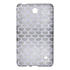 Scales3 White Marble & Silver Brushed Metal Samsung Galaxy Tab 4 (8 ) Hardshell Case  by trendistuff