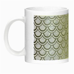 Scales2 White Marble & Silver Brushed Metal (r) Night Luminous Mugs by trendistuff