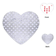 Scales2 White Marble & Silver Brushed Metal (r) Playing Cards (heart)  by trendistuff