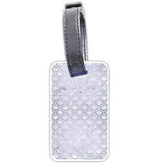 Scales2 White Marble & Silver Brushed Metal (r) Luggage Tags (one Side)  by trendistuff